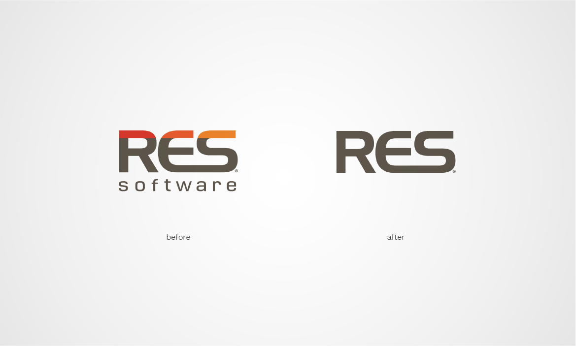 res logo design