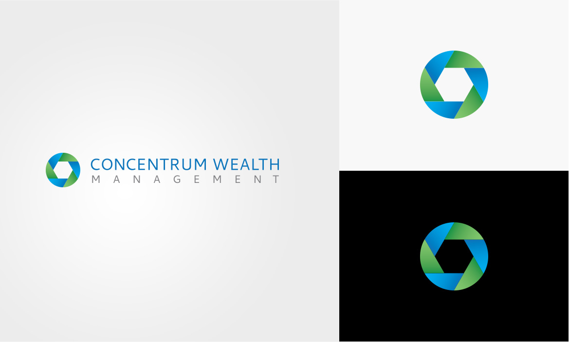 concentrum wealth management logo design