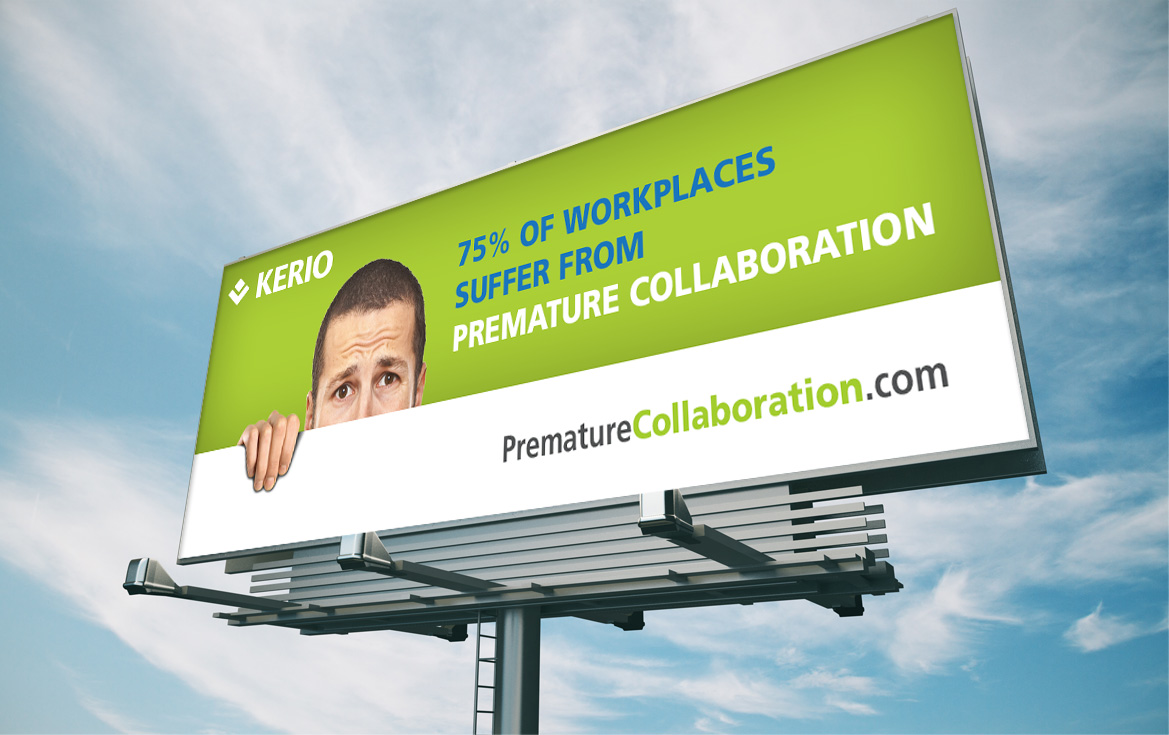 billboard for premature collaboration