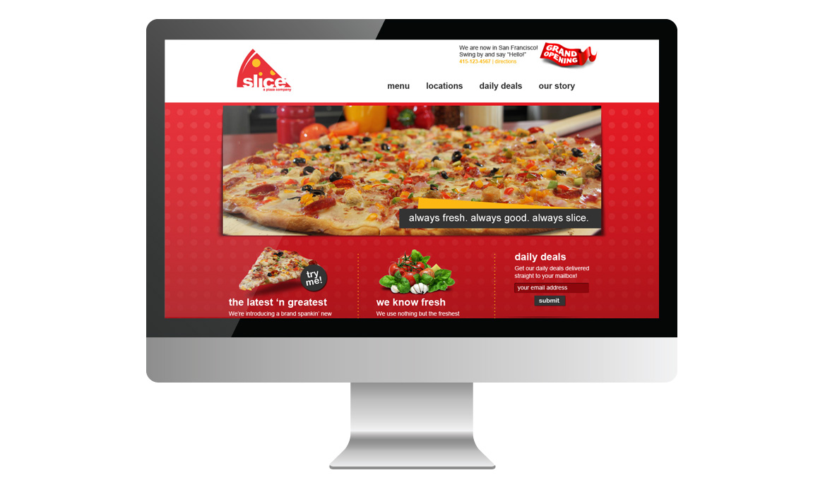 slice homepage design